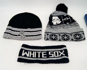 Lot of 3 New Era Chicago White Sox Beanie & Headband Star Wars C3492