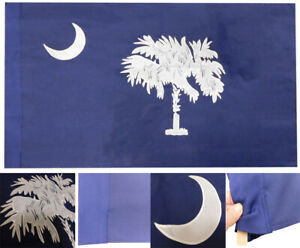 South Carolina Blue 600D 2 Ply Nylon Embroidered Flag 2.5' x 4' Blue Sleeve