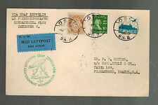 1934 Norway Graf Zeppelin Airmail Cover Brazil South America Christmas Flight