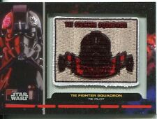 Star Wars Galactic Files Embroided Patch Relic Card PR-22 Tie Pilot