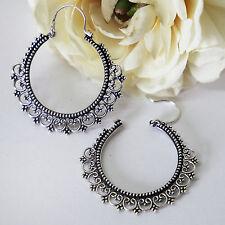 Creolen Sterling Silber 925 Ohrringe Damen Kreolen Ohrhänger Ohrschmuck M