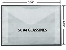 Dealer Dave Stamp Supplies 50 #4 Glassine Envelopes, Great Safe Stamp Storage