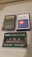 AGFA AUDIOCLEAN 3szt. 2 nowe 1 używ. MADE IN GERMANY (2 NEW, 1 USED) VERY RARE