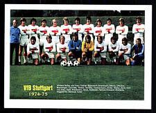 VFB Stuttgart Mannschaftskarte 1974-75 TOP