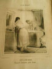 Litho 1849 Après le bal masqué Hussard Chamboran petite tenue