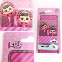 LOL Surprise Earbuds Head Ear Phones Pink Brunette Girl Age 3+ Stocking Filler
