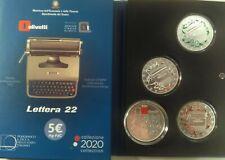 Italia Italien Italy Olivetti Lettera 22 TRITTICO 5 EURO 2020 VERDE BIANCO ROSSO