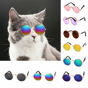 Glasses Pet Products Kitty Dog Sunglasses Photos Cat Accessories Round Decor