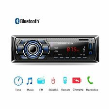 Car Stereo Audio Radio MP3 Player Bluetooth In-Dash FM SD USB AUX 1 Din Remote