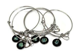 Bracelet 12 Zodiac Sign Constellation Charm Adjustable Bangle Valentine's Gift