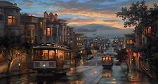 "Evgeny Lushpin. Reproduction. San-Francisco cable-cars. Onto Box-Canvas 16""x 30"""