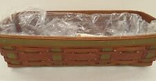 Longaberger Harvest Weave Bread Basket Set New Retired