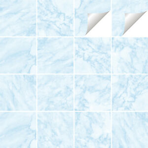 Marble Tile Stickers Transfers Kitchen Bathroom Various Sizes - M8