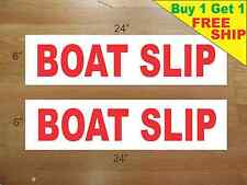"BOAT SLIP 6""x24"" REAL ESTATE RIDER SIGNS Buy 1 Get 1 FREE 2 Sided Plastic"