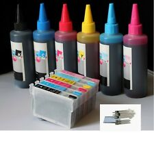 Combo Inkjet Refill Kit FOR Epson 77 78 ink Artisan 50 plus 6x100 ml ink bottles