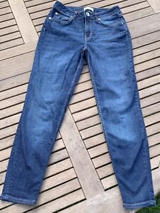 River Island Blue Jeans Size 6 In Excellent Condition
