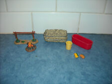 LOT BREYER STABLEMATE TOY FARM ACCESSORIES HITCHING POST HAY TROUGH PAIL HOSE