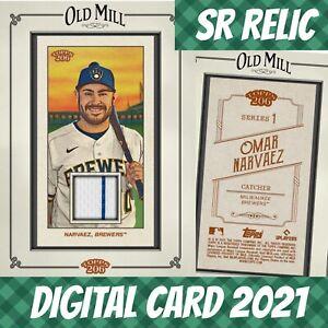 Topps Bunt 21 Omar Narvaez Topps 206 Framed Relic 2021 Digital Card