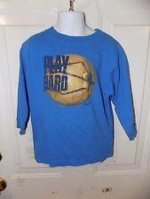 Nike Blue Play Hard Basketball Long Sleeve T-Shirt Size 4T Boy's Euc