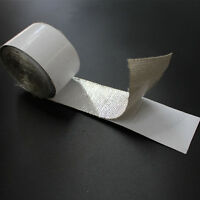 """Aluminum Coated Exhaust Manifold Downpipe Heat Shield Wrap 2""""x 33ft Tape NEW"""