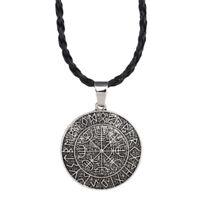 Viking vegvisir brújula colgante Symbal Odin de collar colgante DQA