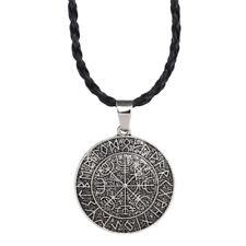 Viking vegvisir brújula colgante Symbal Odin de collar colgante