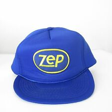 VTG 1980s ZEP Industrial Cleaning Supplies Products Trucker snapback hat