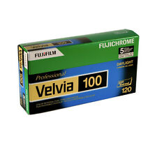 5 Rolls Fuji 120 RVP Fujichrome Velvia 100 Pro Color Slide Film - FRESH DATED