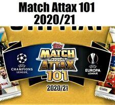 Topps Match Attax 101 2020-21 20 21 Purple Refractor Parallelo Scegli card