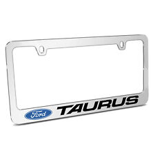 Ford Taurus Mirror Chrome Metal License Plate Frame, Made in USA
