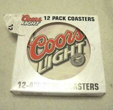 12 Pack Boxed Coors Light 4 Inch Round Pulp Board Coasters Miller Coors Boelter