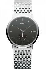Alfex Stainless Steel Mens Watch 5468/002. Minimalist Chic, 30m WR, Swiss Made.