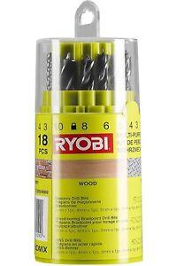 Ryobi RAK18DMIX Mixed Drill Bit Set (18 Piece) (New)