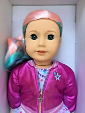 "American Girl 2020 Truly Me 88 18"" Doll Blu Eyes Pastel Multicolor Hr Light Skn"