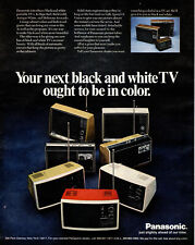1971 vintage television AD PANASONIC portable Color TV Sets  032419