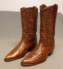 Vintage Durango Western Cowboy Leather Buck stitch Riding boots men's 8.5Ee Usa