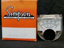 Simpson 1120-1230 Meter Panel Hewlett Packard NEW IN BOX NOS 0-50 Volt 0-.75 Amp