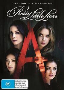 Pretty Little Liars : Season 1,2,3,4,5 (DVD) Region 4 - NEW+SEALED