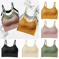 Crop Top Vest Comfort Stretch Bralette Women Sexy Seamless Sports Yoga Bra E4U0