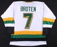 Minnesota Golden Gophers Neal Broten Signed XL *HOME OR AWAY* Jersey (TSE Cert)