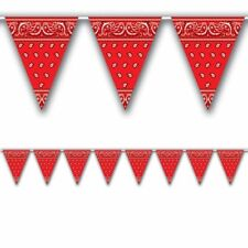 Western Red Bandana All Weather Pennant Banner
