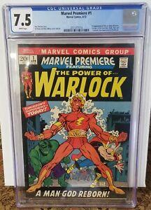 Marvel Premiere #1 - CGC 7.5 - 1st App. Adam Warlock - 1st App. Soul Gem