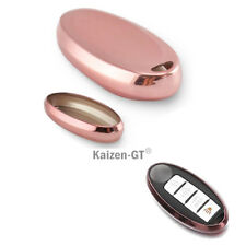 Pink TPU Soft Remote Key Fob Holder Cover For Nissan 370Z Altima Cube GT-R, etc