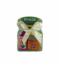 20 Personalised Mini Glass Retro Sweet Jars Ideal as Corporate & Event Giveaways