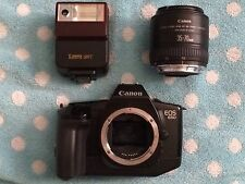 CANON EOS 650 CAMERA WITH CANON 35-70MM LENSE/SpeedLite 244t/Case and Strap