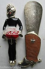 French Maid Can Opener & Cowboy Boot Shoe Horn - Two Novelty Items