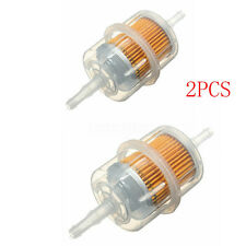 2pcs Auto Car Large Inline In Line Fuel Filters Petrol 6mm 8mm Pipe For VW FORD
