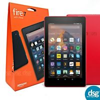 New AMAZON Fire 7 Tablet with Alexa 7th Gen - 8 GB, Punch Red - 2018