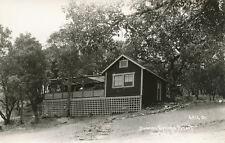 Hopland CA * Duncan Springs Resort RPPC 1940s  PAT. #6.H.13  Mendocino Co.