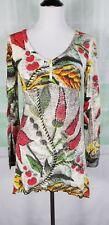 Desigual women's boho style chili pepper long sleeve blouse NWT size Medium